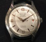 Santire Super automatic, separate date, steel, 60's, 1350 SEK 2020-05-29