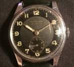Tärnan sportsman with dark grey dial and black ring, 50's 850 SEK 2020-04-28