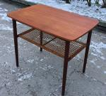 Small teak table with newspaper shelf, Denmark, 60's, SOLD 2018-03-03