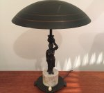 Art deco table lamp bronze & marble, 20-30's, Price on request ON HOLD 2017-12-20