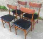 3 Ulferts Sweden Tage Olofsson teak chairs, 50-60's, SOLD 2020-04-25