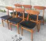 6 V&S Danish teak chairs with new, black vinyl upholstery, 60's, 1600 SEK/item (sold together) 2020-05-29